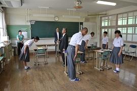 中学校へ出前事業「下蒲刈中学校でマナー研修」呉支部