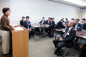 「先祖の足跡の中に未来の道標が見える」広島西支部西地区会10月例会
