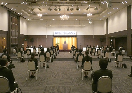 県内61社101名の合同入社式開催