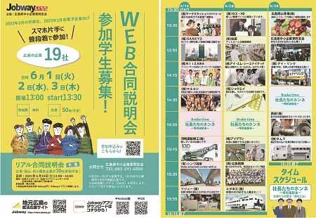 共同求人活動 Jobway2022 6月1~3日でWEB合説を開催